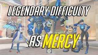 Legendary difficulty: Uprising PvE event as Mercy - Overwatch