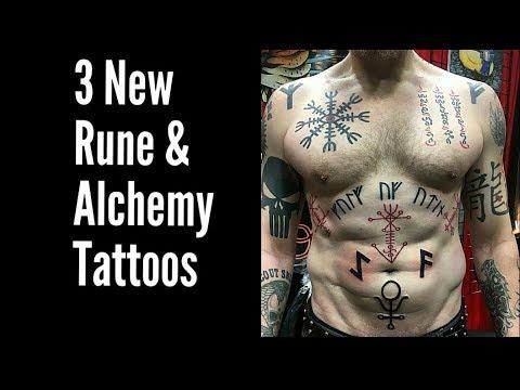 2 Viking Rune Tattoos & 1 Alchemy Tattoo