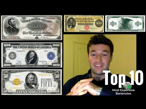 Top 10 Most Expensive Banknotes Ever Sold