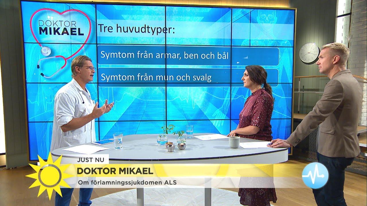 """Doktor Mikael om ALS: """"Ett stort lidande för den som får sjukdomen"""" - Nyhetsmorgon (TV4)"""