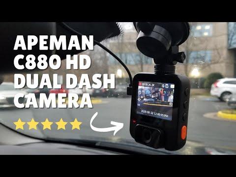 Apeman C880 - Dual Dashboard HD Camera Review! #apemanc880 #dashcam