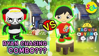 RYAN CHASES COMBO PANDA!!! Tag with Ryan | Ryan's World Game App | Smiles Giggles Laughs Gameplay