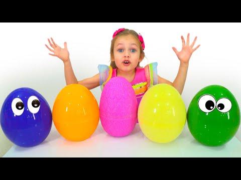 Видео: Охота за пасхальными яйцами - Детская песня. Песни для детей от Майи и Маши