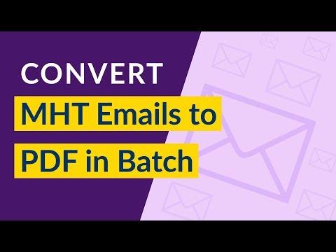 How To Batch Convert MHT To PDF I Change MHT To PDF I Export MHTML To PDF In Batch
