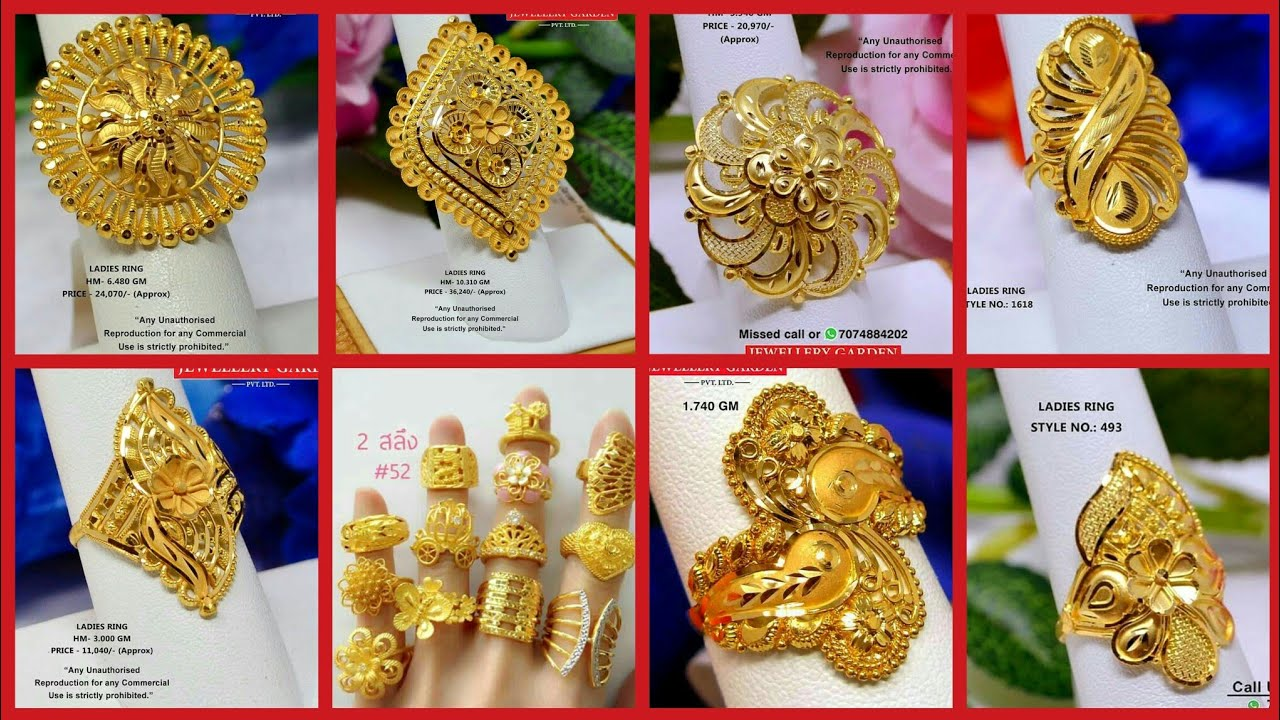Latest Solid Gold Rings Designs With Weight And Price Gold Engagement Rings Wedding Rings Youtube