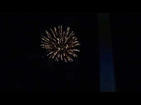 Brockton Rox baseball post game fireworks on 07/16/16