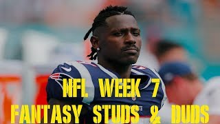 NFL Week 7 Fantasy Studs and Duds