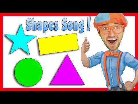 Thumbnail: Learn Shapes for Kids with Blippi | The Shapes Song