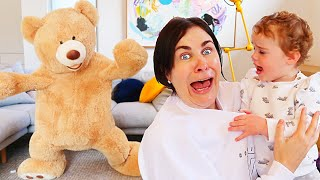 GIANT TEDDY BEAR ALIVE PRANK ON FAMILY w/The Norris Nuts