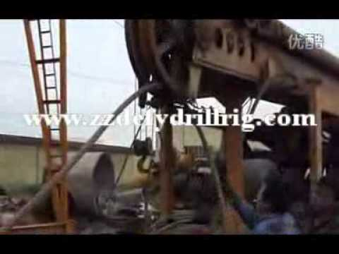 Operation of Percussion cable drilling rig DFP-6