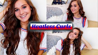 3 quick and easy heatless curls