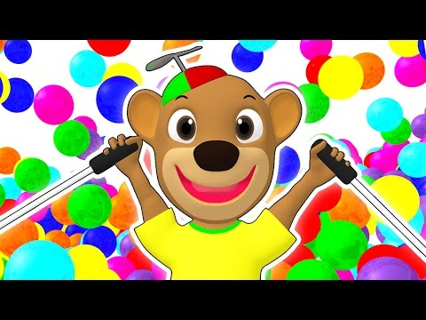 SUPER CIRCUS 3D Kid's Olympics | Olympic Playground, Color Balls, Ball Pit Show By Busy Beavers