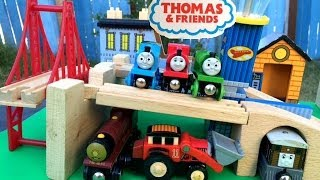 Thomas And Friend Wooden Trains Racing Percy, Jack, Skarloey, Toby