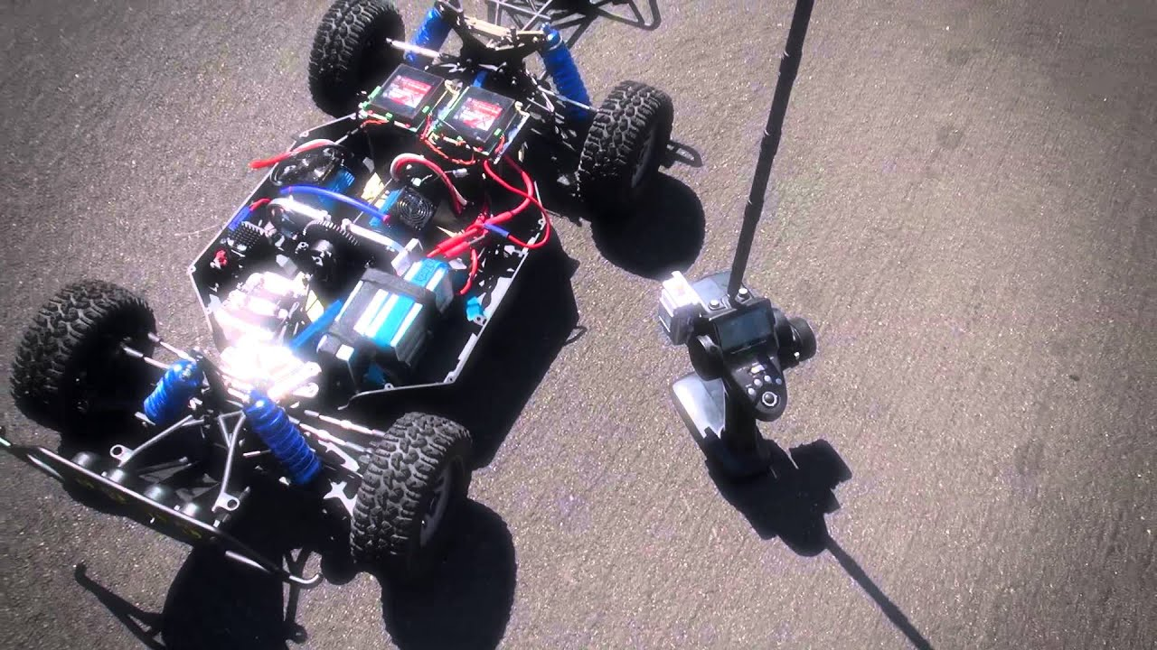 Dual Motor Mgm Brushless Losi 5ive T Most Powerful Brushless Rc In The World Youtube