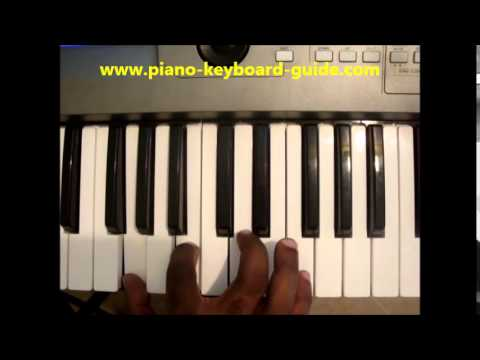 How To Play G7 Chord G Dominant Seventh Gdom7 On Piano Keyboard