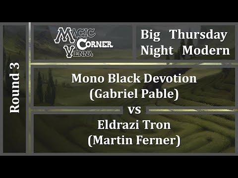 [ENG] MCV Big Thursday Night Modern - Round 3 - Mono Black Devotion vs Eldrazi Tron