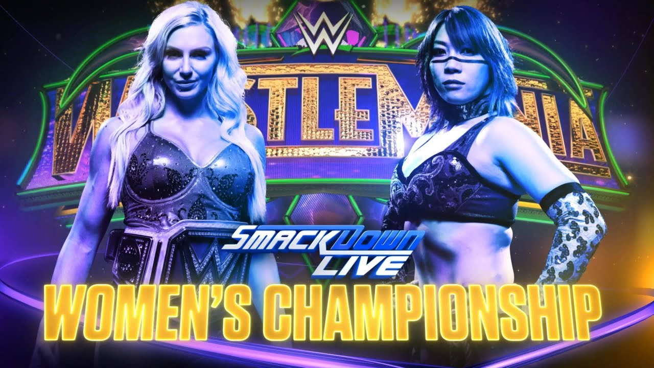 Image result for wrestlemania 34 charlotte vs asuka