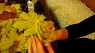 różyczki z liści klonowych- technika wykonania