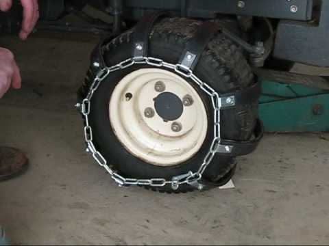 Rubber Tire Chain Installation Youtube