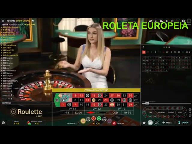Procurando uma maneira eficaz de JOGO na ROLETA EUROPEIA/ frequências recorrentes 100 € a 409€ ✔