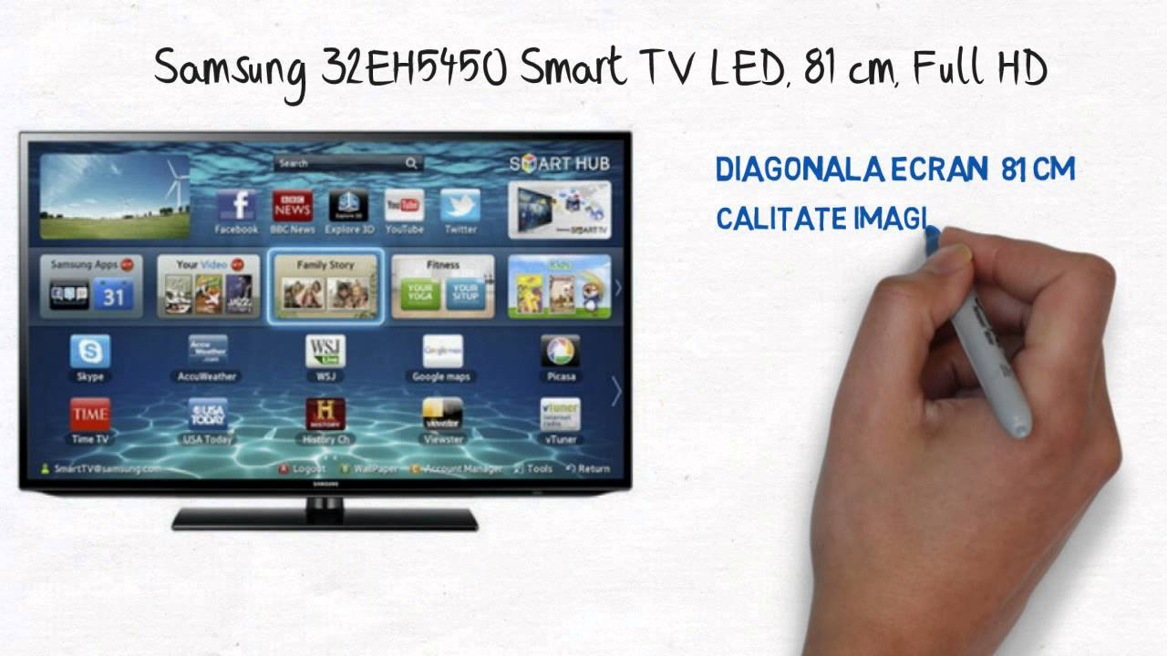 samsung 32eh5450 smart tv led 81 cm full hd youtube. Black Bedroom Furniture Sets. Home Design Ideas