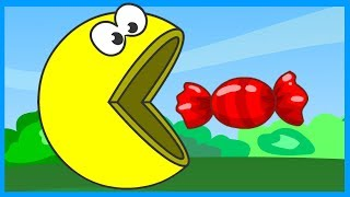 Учим цвета - Раскраска для детей - Колобок - Мультик - Пакман - Learn Colors - Pacman
