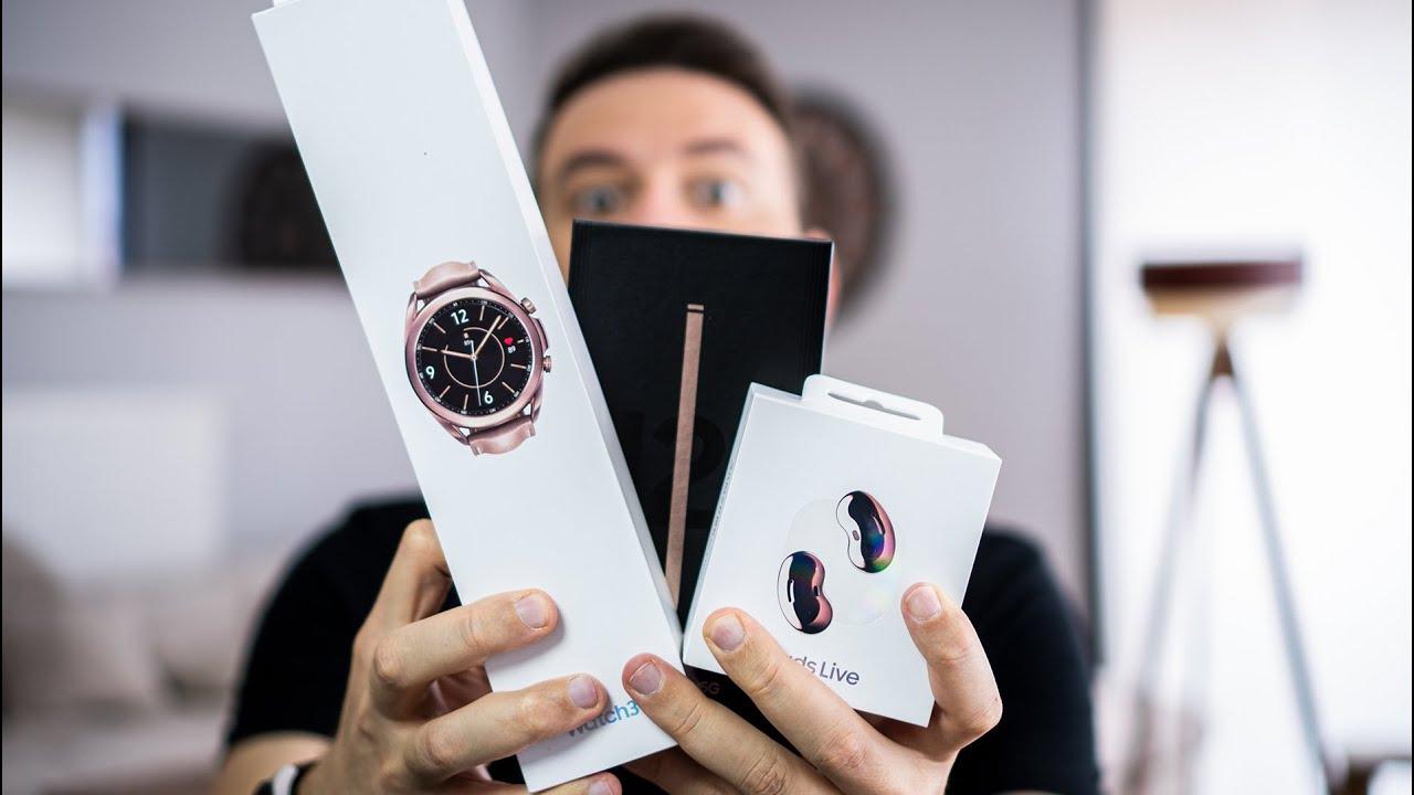 Unpacked Kutu Açılışı - Galaxy Buds Live I Galaxy Note 20 Ultra I Galaxy Watch 3
