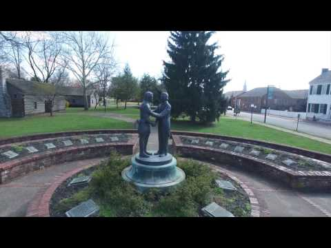 Aerial video of Danville, Kentucky