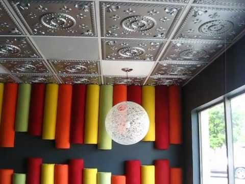 restaurant remodel renovation grid suspended drop in decorative tin 2x2 pvc ceiling tiles - Decorative Drop Ceiling Tiles