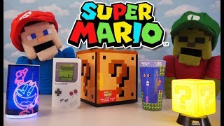 Nintendo Super Mario Kart World Paladone Toys Light Up Mystery Block Tin Party Unboxing Puppet Steve