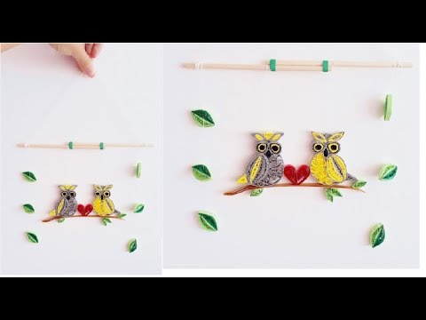 DIY Paper Quilling Wall decoration 5// quilling wall mobile// Quilling owl