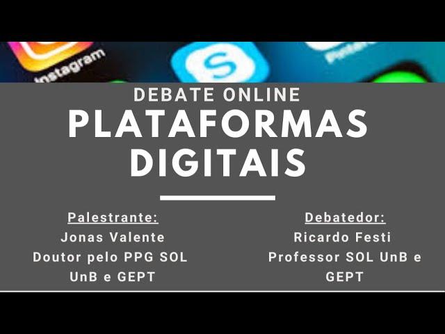 [LIVE] Debate online: Plataformas Digitais