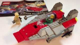 Vintage LEGO Star Wars 7134 A-Wing Fighter from 2000