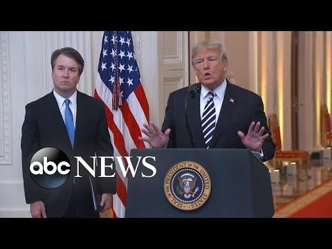 President Trump apologizes to Kavanaugh during Supreme Court swearing-in ceremony