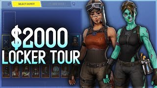 'INSANE' $2000 Locker Tour - Fortnite Rare Skin Account (Ghoul Trooper, Renegade Raider and More)