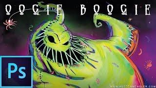 Oogie Boogie ~ 1 hr - Photoshop Speed Painting - The Nightmare Before Christmas | Austen Mengler