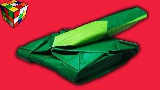 Танк из бумаги. Как сделать танк оригами из бумаги своими руками. Поделки из бумаги.(Учимся рукоделию! Как сделать танк из бумаги! Танк оригами своими руками! Всё поэтапно и доступно каждому...., 2016-03-16T11:00:03.000Z)