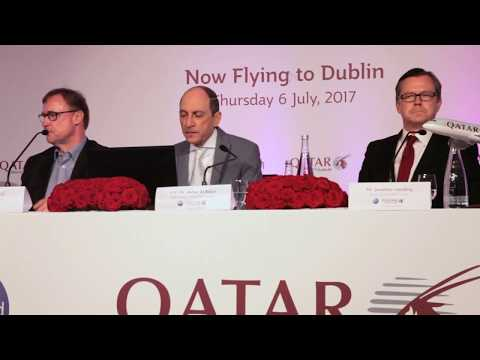 Qatar Airways Press Conference, Dublin, Ireland, 6th July 2017 - Unravel Travel TV