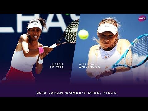 Hsieh Su-Wei vs. Amanda Anisimova   2018 Japan Women's Open Final   WTA Highlights