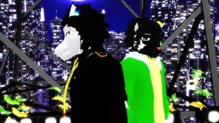 mmd utau獣人 sumane yamato and aro rouon download