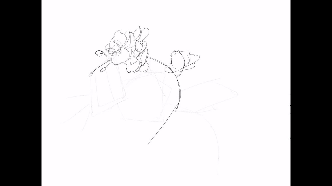how to draw orchids step by step
