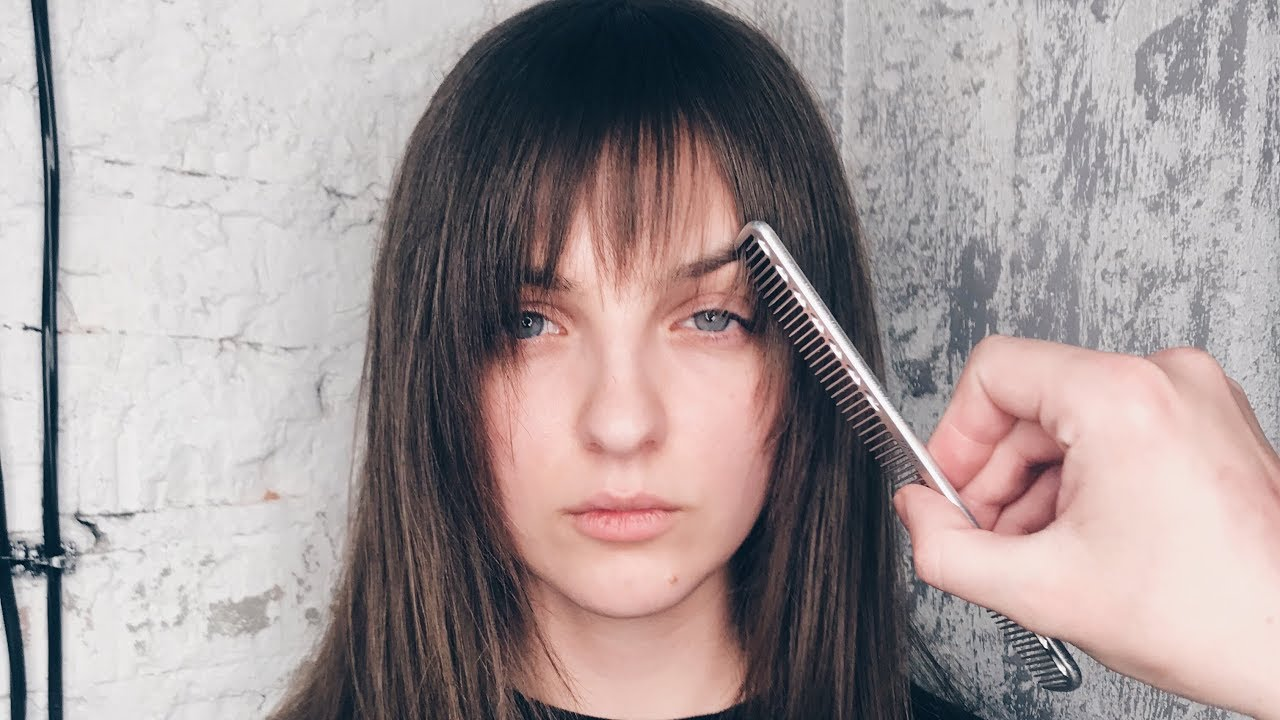 How To Cut Curtain Bangs Most Popular Fringe In 2020 Youtube