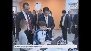 Японская делегация посетила детский технопарк «Кванториум» в Чебоксарах