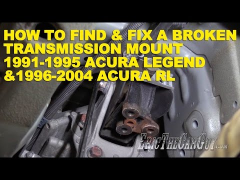 How To Find and Fix a Broken Transmission Mount Acura Legend 1991-1996 & Acura RL 1996-2004
