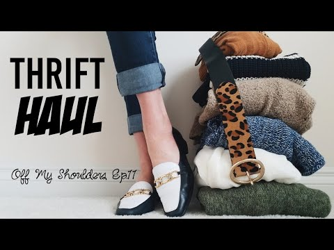 Off My Shoulders: A Thrifted Haul for Poshmark!