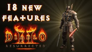 18 New Features Were Added In Diablo 2 Resurrected!