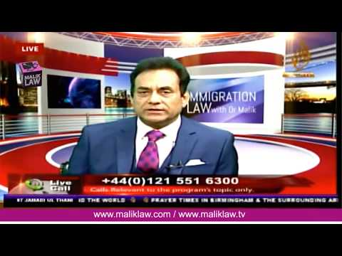 Noor TVs Immigration Law with Dr Malik  24 Feb  2018