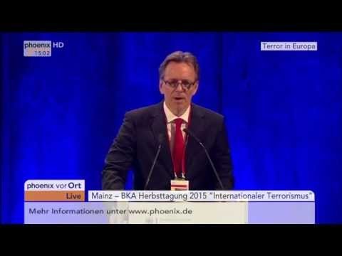 BKA-Herbsttagung: Holger Münch zum internationalen Terrorismus am 18.11.2015