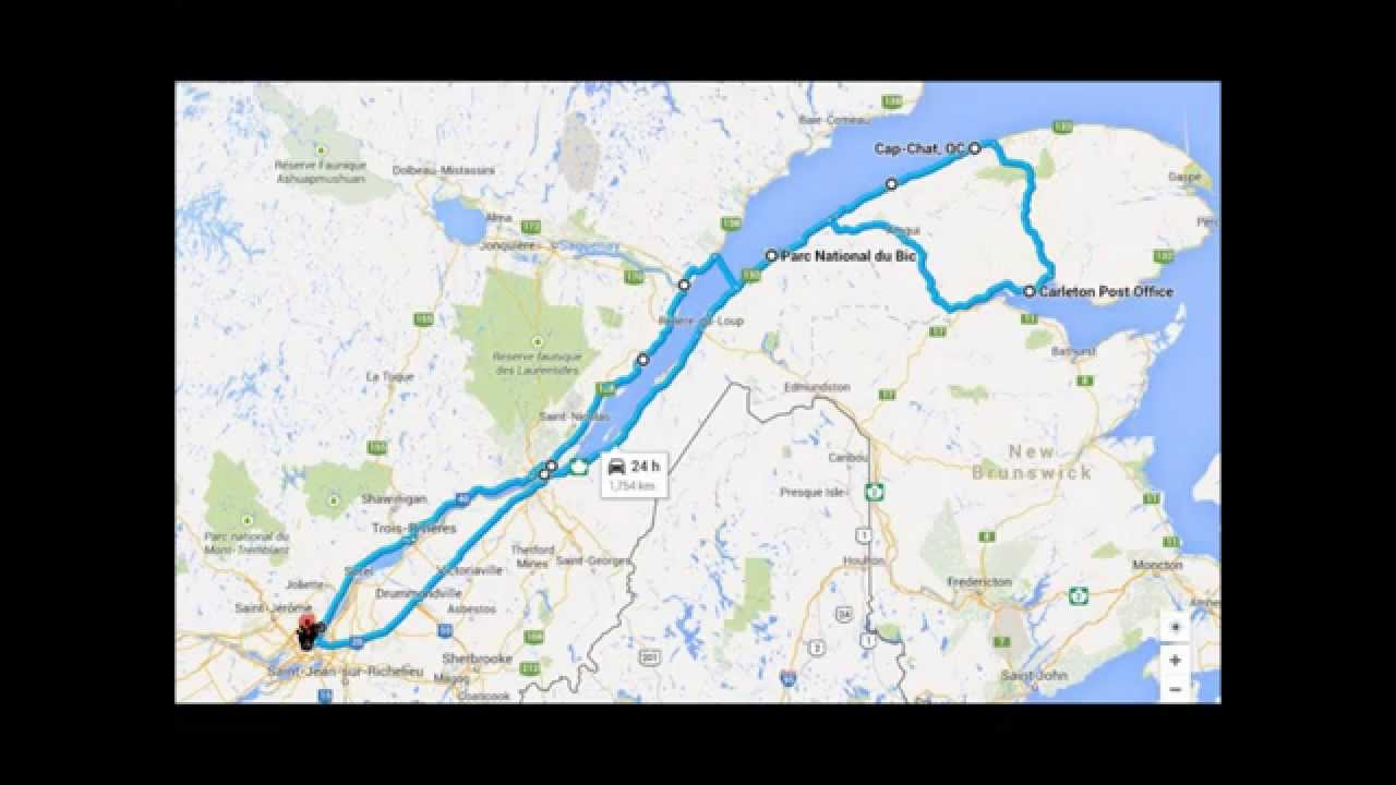 road trip animated map