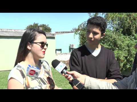 Eros Ferreira, Ignacio Trinidad y Luana Da Silva - Integrantes de Radio Joven Rivera